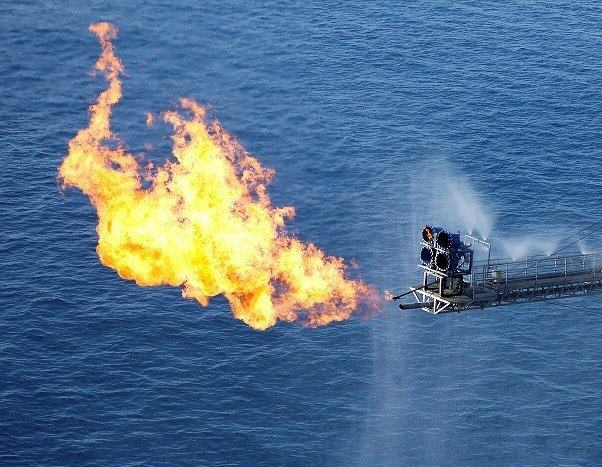 oil and gas flaring during well testing operations