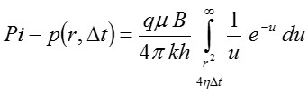 equation for the pressure disturbance